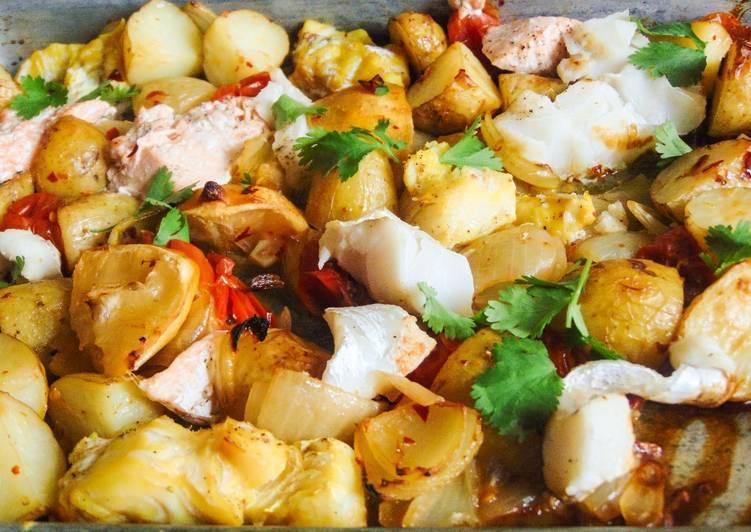 Recipe: Tasty Easy Fish Traybake