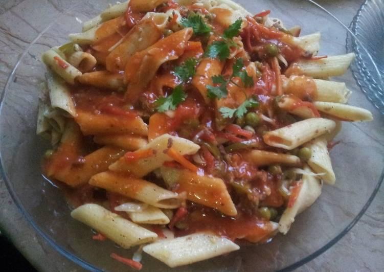 Easiest Way to Prepare Award-winning Hot sauce chicken pasta