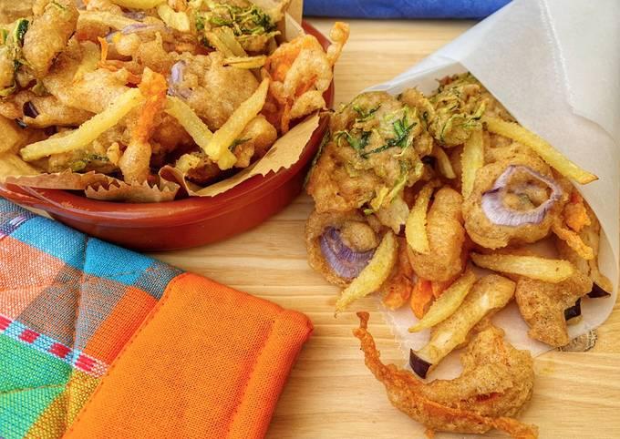 Cuoppo o fritto misto vegetariano