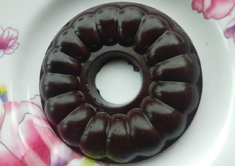 resep cara mengolah Puding nutrijel coklat