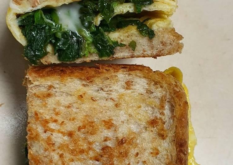 80. Spinach Egg Toast