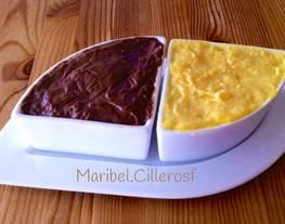 Crema pastelera tradicional y crema pastelera de chocolate