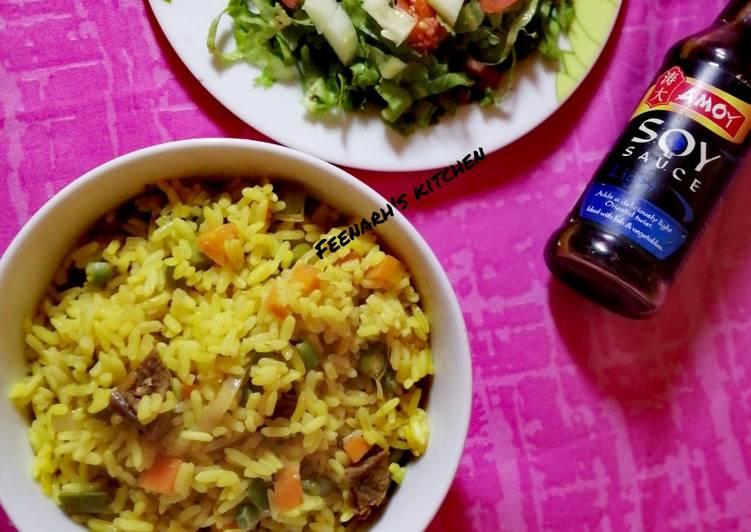 Simple Way to Prepare Award-winning Turmeric Fried rice