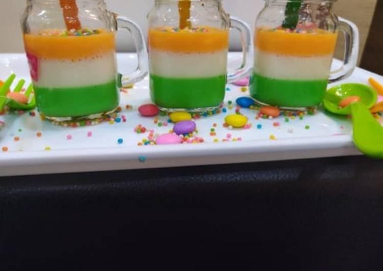 Recipe of Favorite Tricolour Jelly