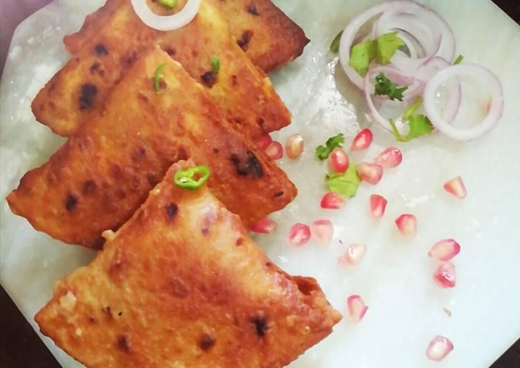 15 Minute Steps to Prepare Super Quick Homemade Leftover Chapati samosa