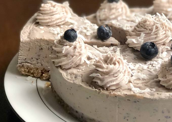 Easiest Way to Prepare Gordon Ramsay *EASY* NO BAKE Vegan Blueberry Cheesecake (NOT nut free)