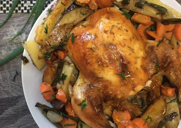 Classic Roasted Rosemary Chicken - Ayam Panggang Oven Mudah