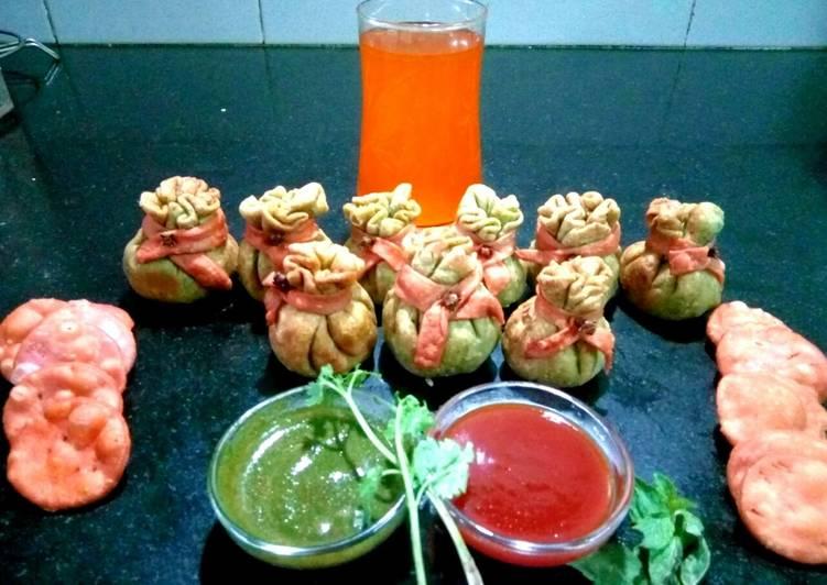 Grandmother's Dinner Easy Spring Dhan Potli