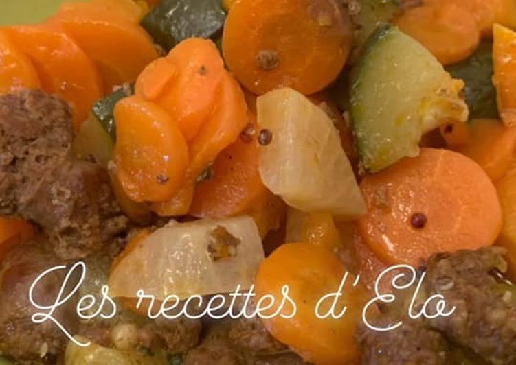Poêlée de légumes / merguez au Cookeo