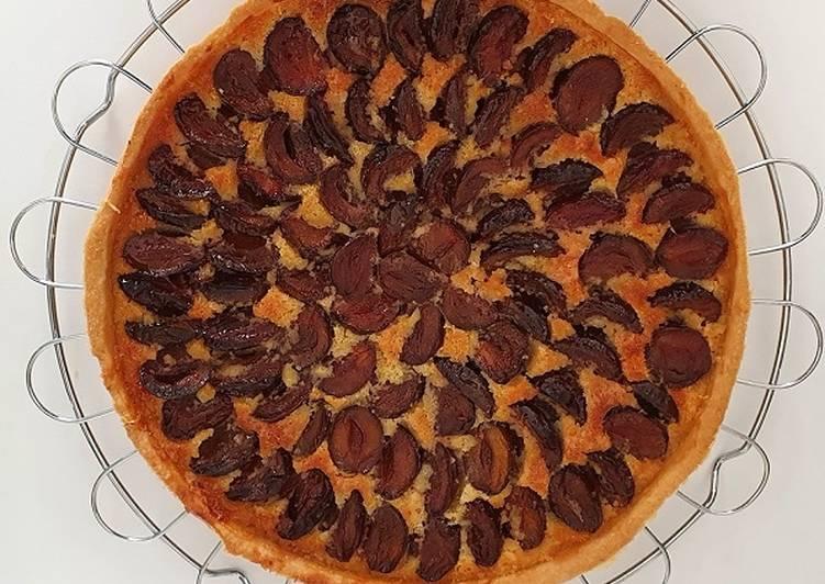 Comment faire Cuire Délicieux Tarte amandine aux prunes