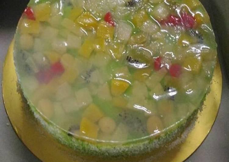 Crystal fruit cake