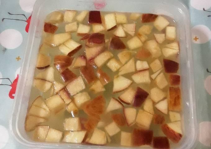 Agar-agar apel gula melon