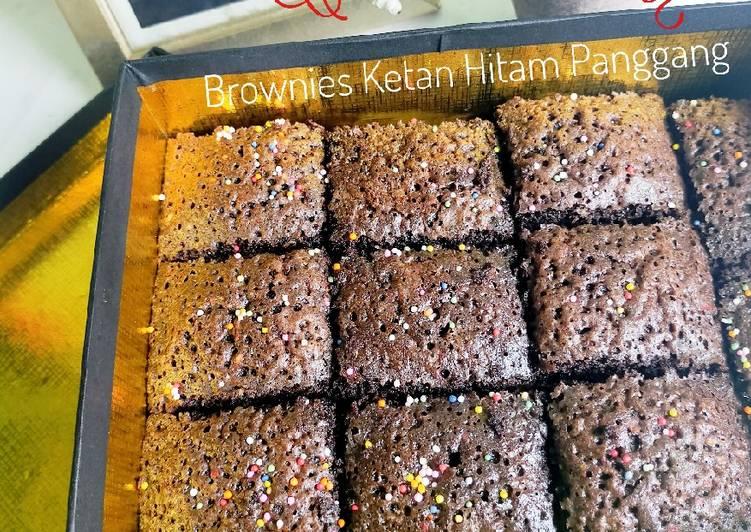 Cara Bikin # Brownies Ketan Hitam Enak dan Antiribet