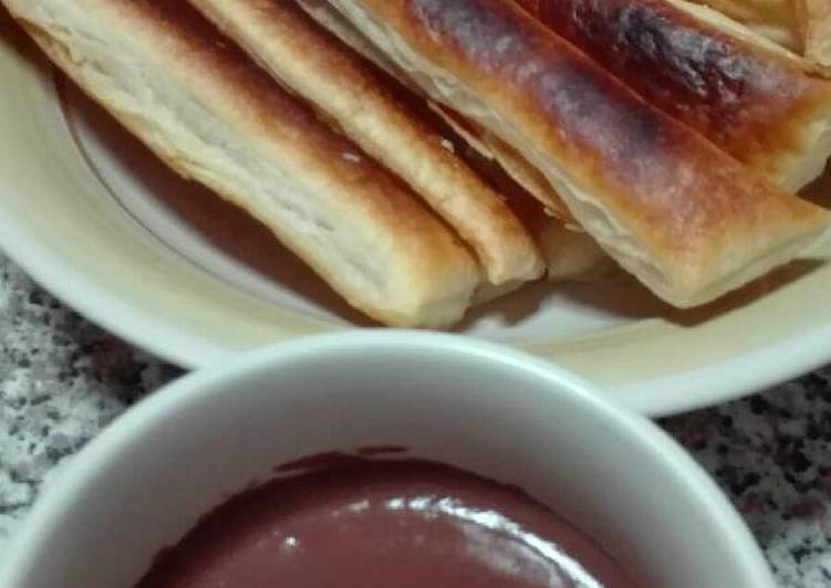Churros saludables con chocolate