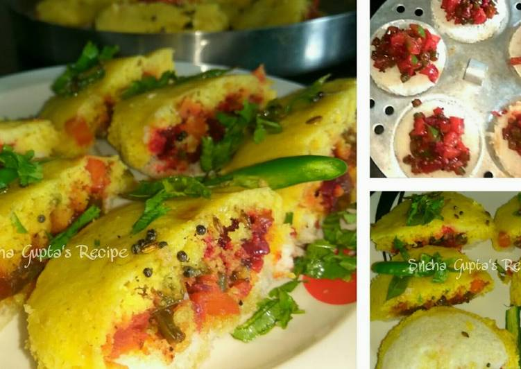 Easiest Way to Make Any-night-of-the-week Bread Dhokla Sandwich-Breakfast Recipe