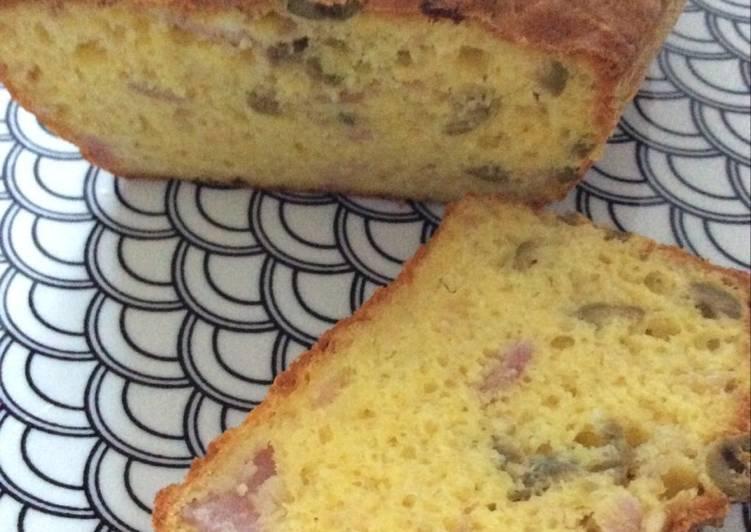 Cake jambon olives