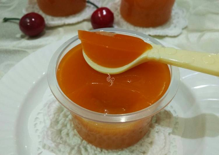 Easy Mango Jelly Pudding Cup