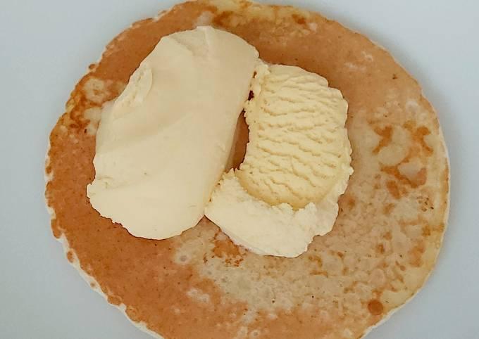 My Quick Pancake with Vanilla Ice Cream #KitchenBingo