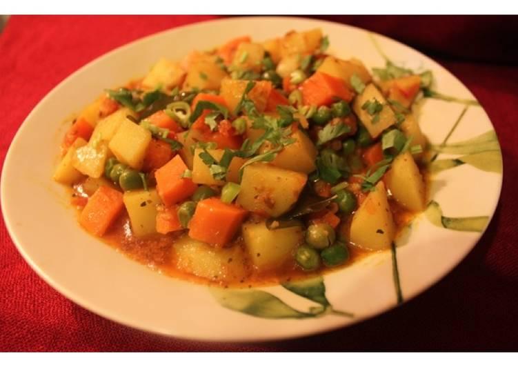 Recipe of Quick Mixed Sabzi - Mixed Vegetables Masala