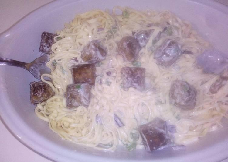 Fettuccinis et falafels