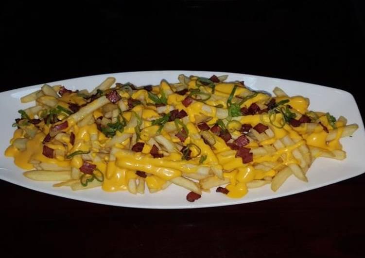 Cheddar fries