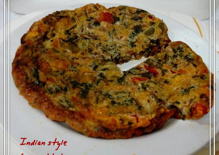 How to Cook Yummy Indian style egg frittata