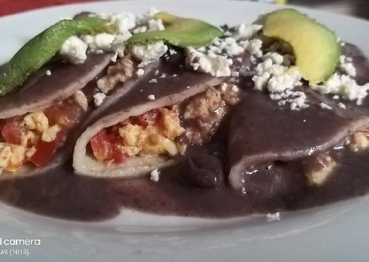 Enfrijoladas mexicanas