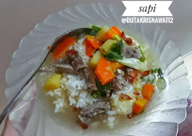Sop daging sapi (rempah)