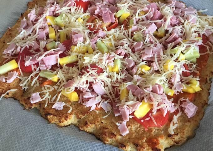 Pizza base chou fleur