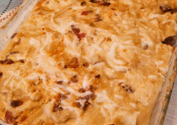 Recipe: Delicious Baked Pasta w/ White Sauce