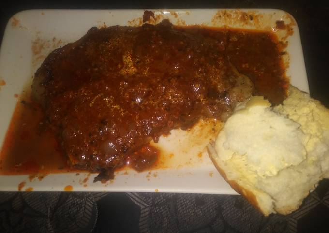 Anita's Rib 👁 Steak With Salsa