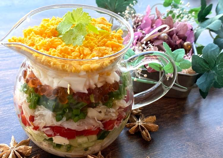Easiest Way to Prepare Appetizing Glass Salad