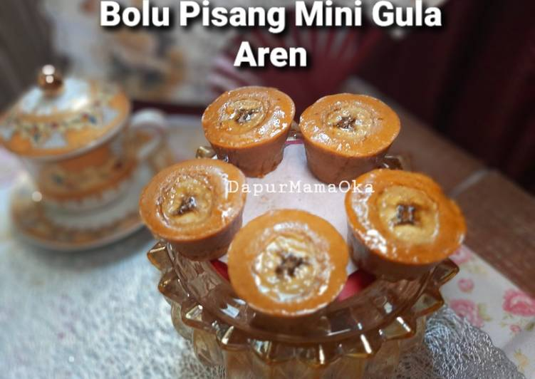 Resep Bolu Pisang Mini Gula Aren🍌 Anti Gagal