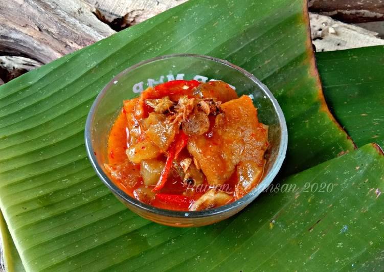 Sambal Goreng Mercon Krecek Kikil Sapi (Pelengkap Gudeg)