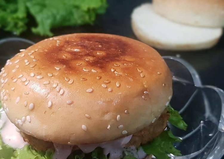 Chicken Patty Burger 🍔
