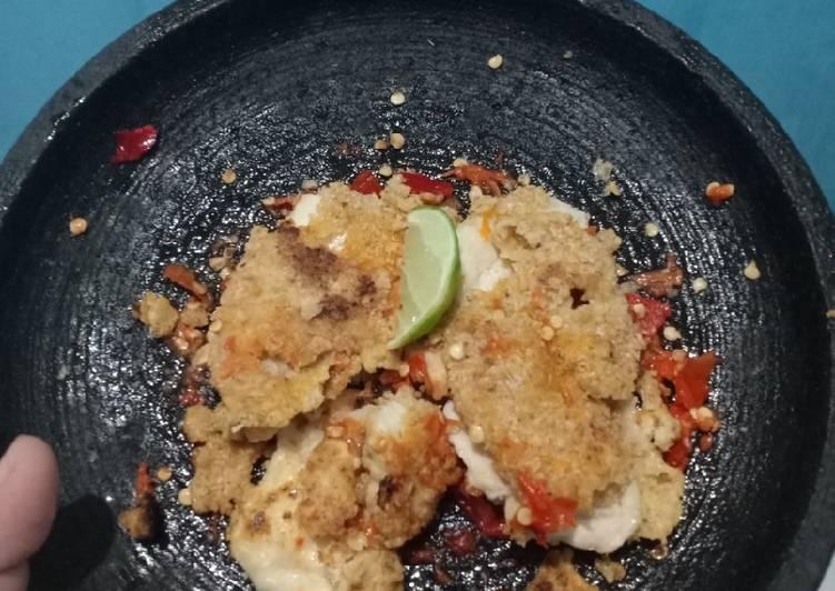 Ayam geprek no tepung