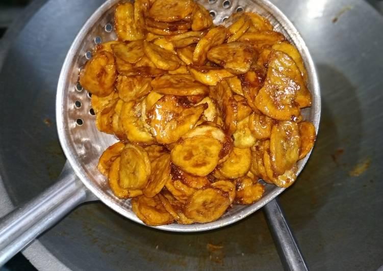 Kripik pisang caramel