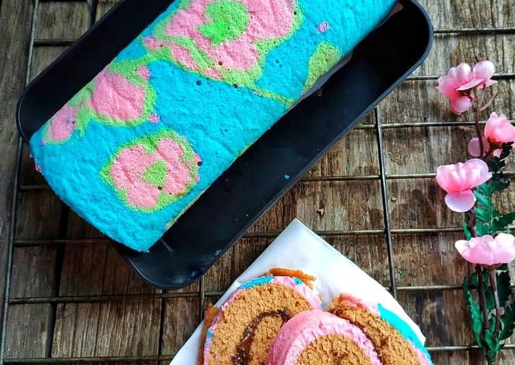 Bagaimana Menyiapkan Roll Cake Motif Kukus, Sempurna