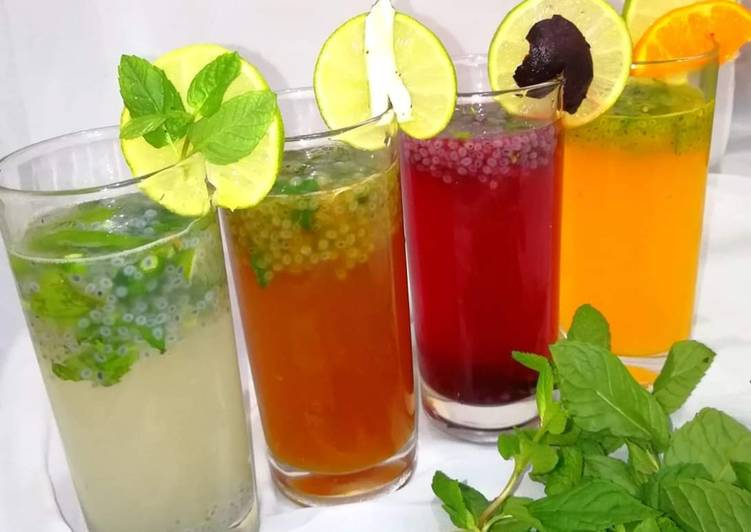 Kulukki sharbath(shaken lemonade) four flavours