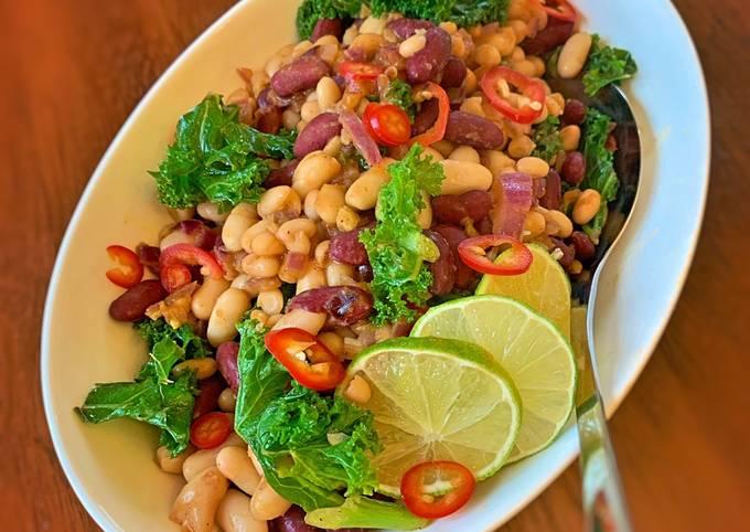 Warm Bean Spicy Salad