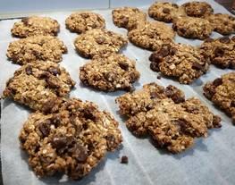 Galletas tipo cookies de avena y crema de cacahuete ?✌️?