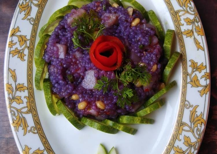 How To Make  Purple Cabbage Sago Delight