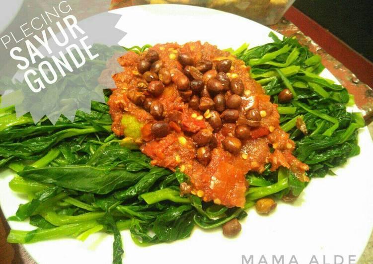 Resep Plecing Sayur Gonde Oleh Dapur Mama Alde Cookpad