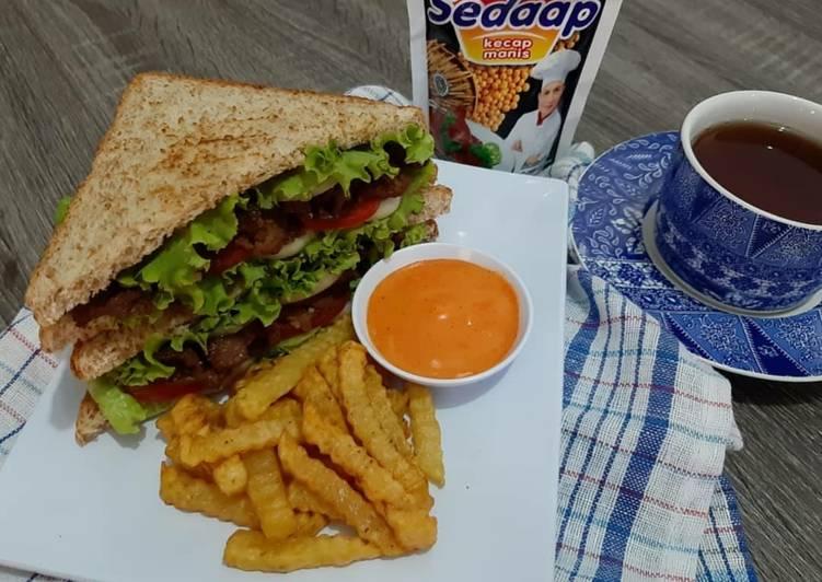 Resep Beef Sandwich Terenak