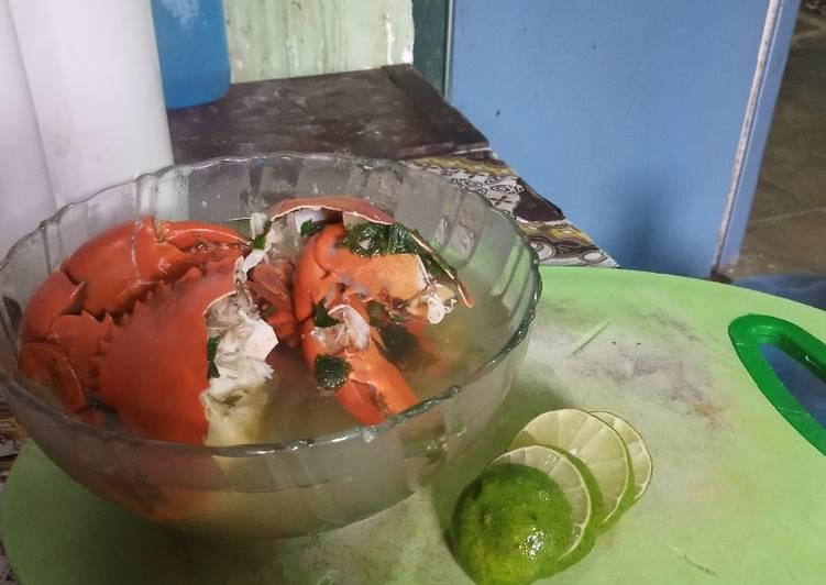 Sup kepiting sederhana