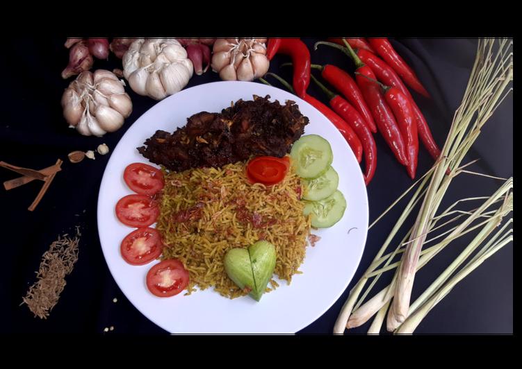 Nasi briyani ori sedap mantap (Nasi Kebuli Basmati) - cookandrecipe.com