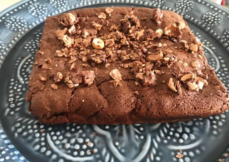 Recette De Mi-Moelleux mi-brownie au chocolat