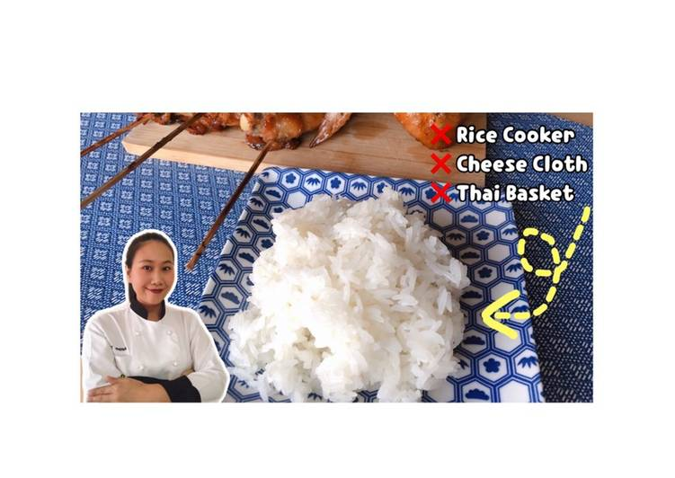 Glutinous Rice • Super Easy • How to Make Sticky Rice At Home ! ThaiChef food