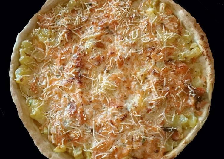Recette Parfait Tarte truite fumée et pommes de terre