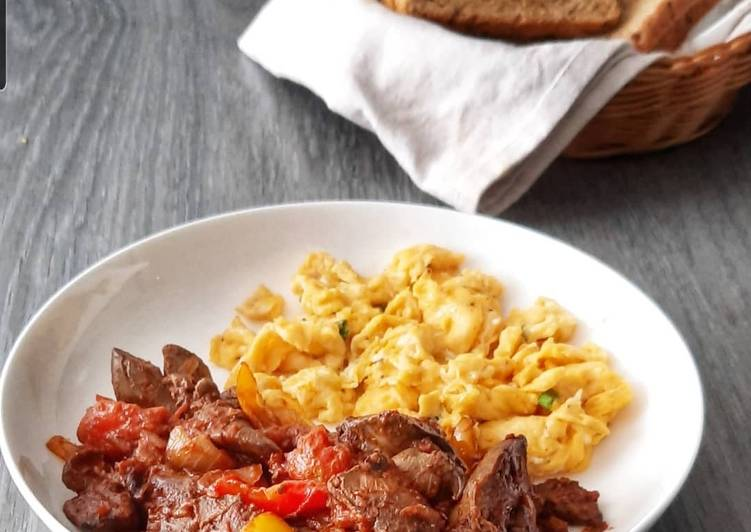Easiest Way to Make Homemade Grandma's breakfast chicken livers